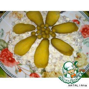 Рецепт Салатик из куриных желудочков