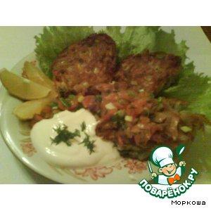 Рецепт Драники со сметаной и лососем