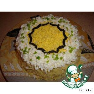 Салатный тортик