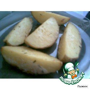 Рецепт Картофель с орегано, запеченный четвертинками