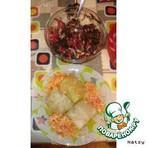 Рецепт Мини-голубчики и салатик