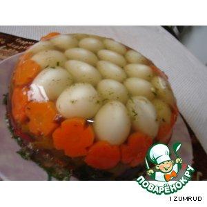 Рецепт Заливное из перепелиных яиц