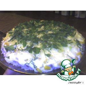 Рецепт Слоеный салатик с грибами
