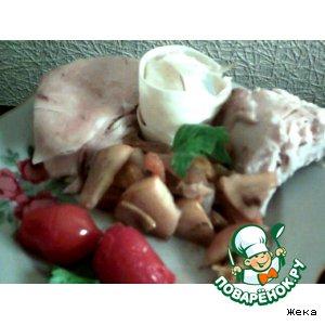 Рецепт Курица с айвой, курагой и мандарином