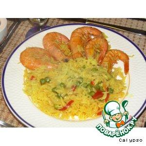 Рецепт Креветки с рисом по-португальски