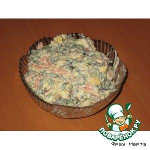 Рецепт Новый крабовый салатик