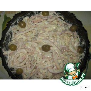 "Рецепт Салат  кальмаровый   ""быстрый"""