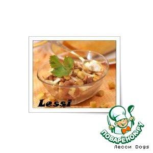 Рецепт Салат из фасоли и сухариков