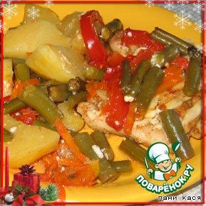 Рецепт Курица с овощами