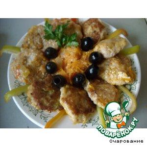 Рецепт Оладушки из куриного фарша с овсяными хлопьями