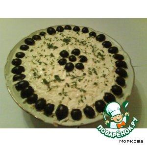 Готовим Салат с маринованным лучком простой рецепт с фото