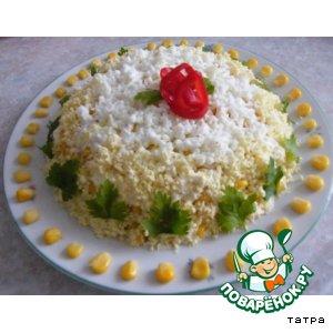 Рецепт Салат с авокадо, кальмарами и кукурузой