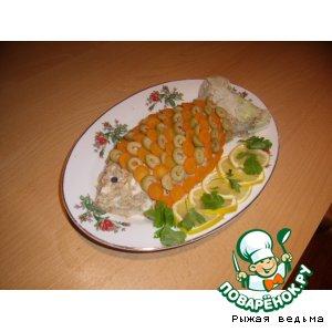 """Рецепт Салат """"Рыбка в цветной шубке"""""""