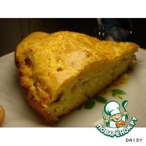 Рецепт Запеканка с начинкой из зеленого лука с яйцом