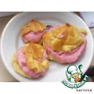 Рецепт Пирожное со взбитыми сливками