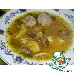 Рецепт Грибной супчик с фрикадельками