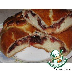 Сдобный пирог со сливами домашний рецепт приготовления с фото пошагово