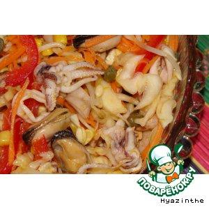 Рецепт Овощной букет с дарами моря
