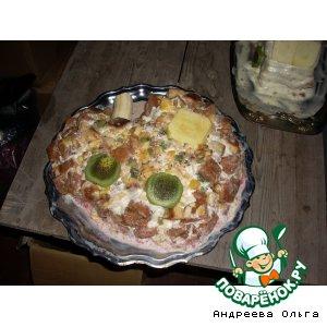 """Рецепт Именинный торт """"Паровозик"""""""