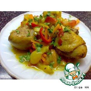 Рецепт Курочка с карри и овощами