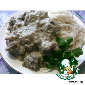 Рецепт Курочка в грибном соусе