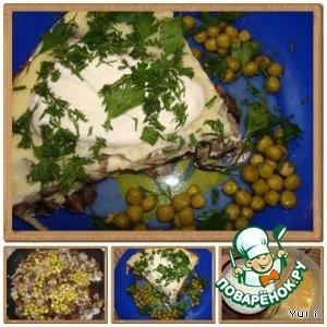 Рецепт Омлет с грибами по-деревенски