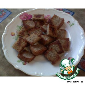 Рецепт Гренки с чесноком