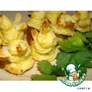 Рецепт: Гарнир из картофеля Цветы