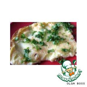 Рецепт Омлет с колбасой и грибами