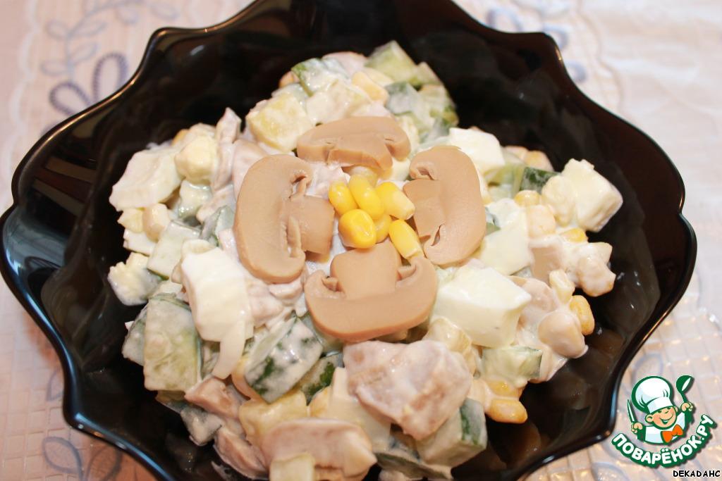 Салат картошка грибы кукуруза