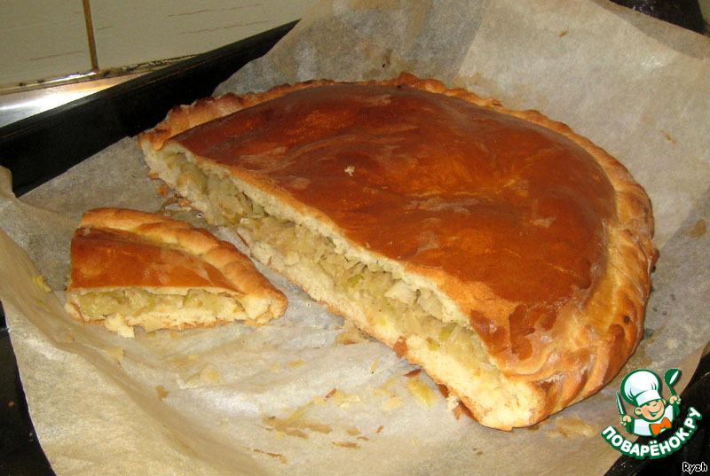 Пироги с капустой из пресного теста