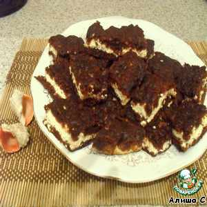 Печенье творожное с какао