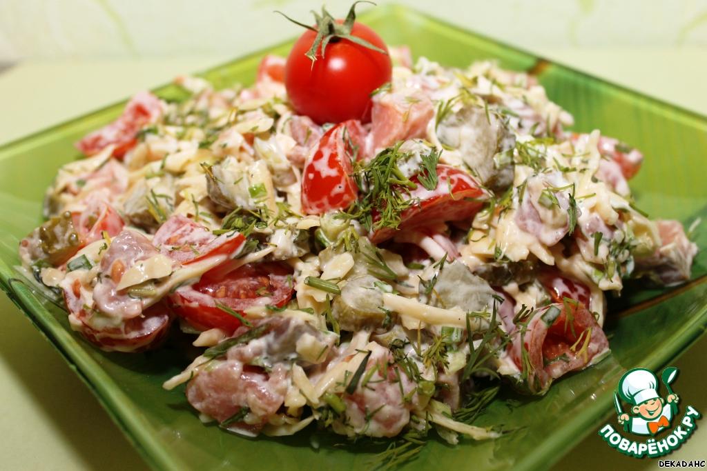 Простой салат из кальмаров рецепты