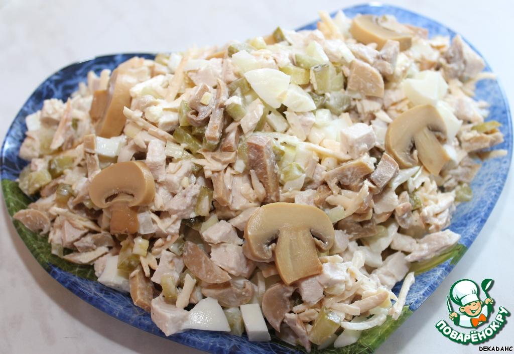 Салат с яйцами и грибами рецепт с