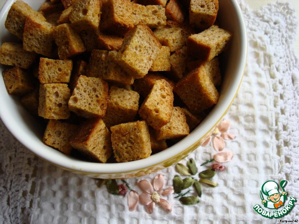 Как из черного хлеба сделать сухари