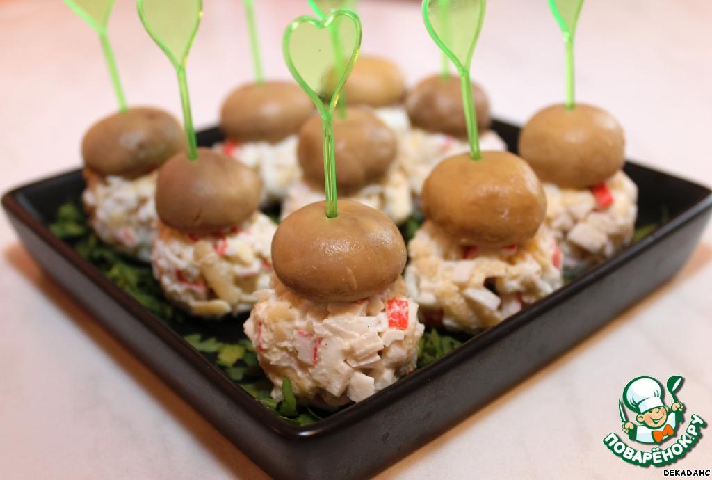 Канапе с грибами рецепты с фото