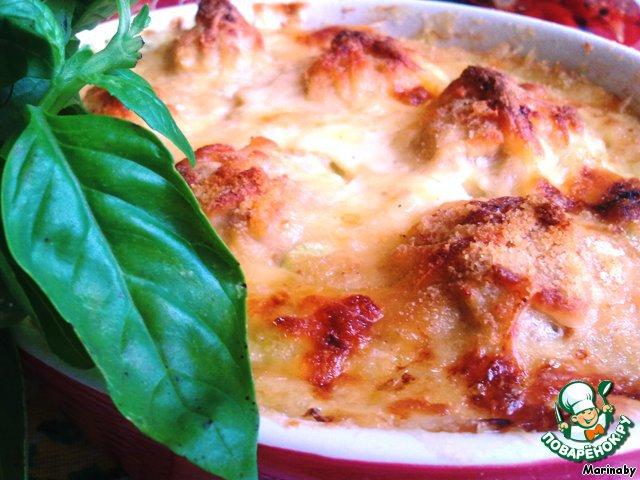 Кабачки с фрикадельками в духовке рецепт