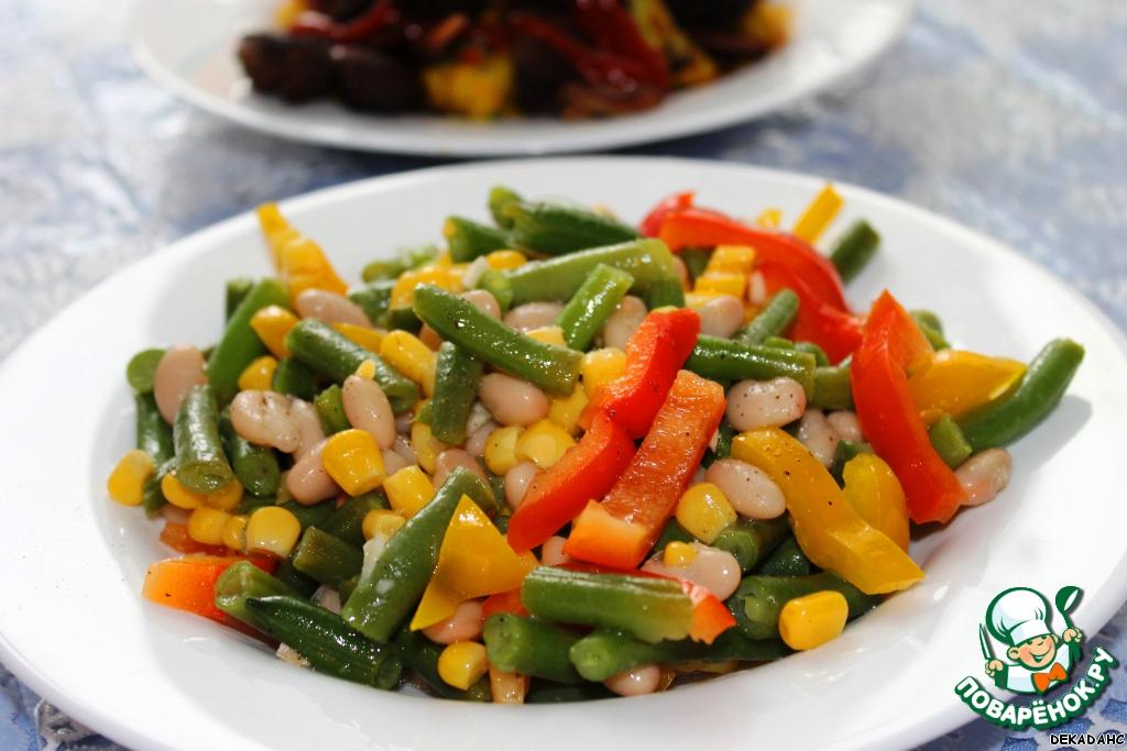 Салат с стручковой фасолью рецепт с