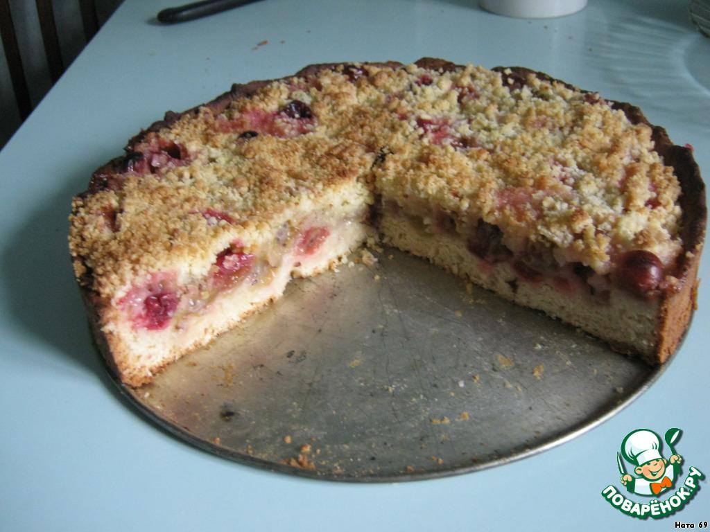 Пирог с крыжовником из дрожжевого теста рецепт