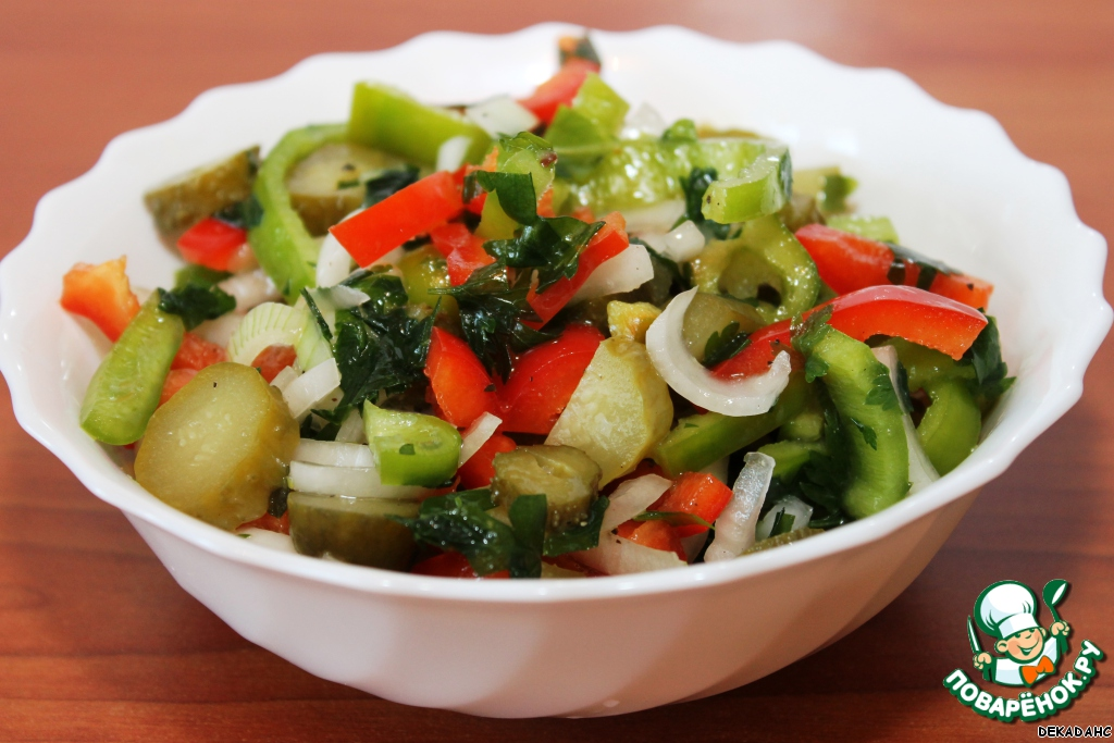 Салат болгарский перец огурец рецепт с