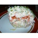 Салат слоеный курино-грибной