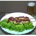 Шашлык куриный домашний с салатом