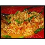Гарнир из риса басмати с овощами и барбарисом