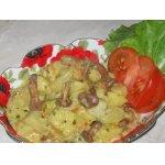 Картофель с лисичками в сметане