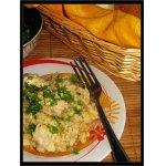 Курица с пшеном и кислой капустой