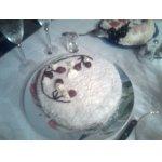 """Тортик """"Зимняя сказка"""" с персиками"""