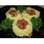 Картофельные гнездышки с лисичками