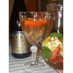 Сангрия из шампанского и клубники