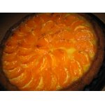 Мандариновый пирог с лимонным кремом