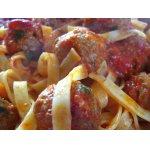 Мясные шарики со спагетти